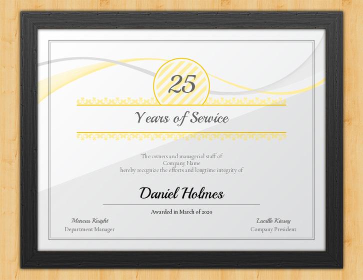 Years Of Service Certificate - Longevityaward Hut with Certificate For Years Of Service Template