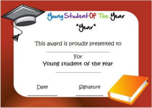 Young Student Of The Year Award Certificate | Awards pertaining to Student Of The Year Award Certificate Templates