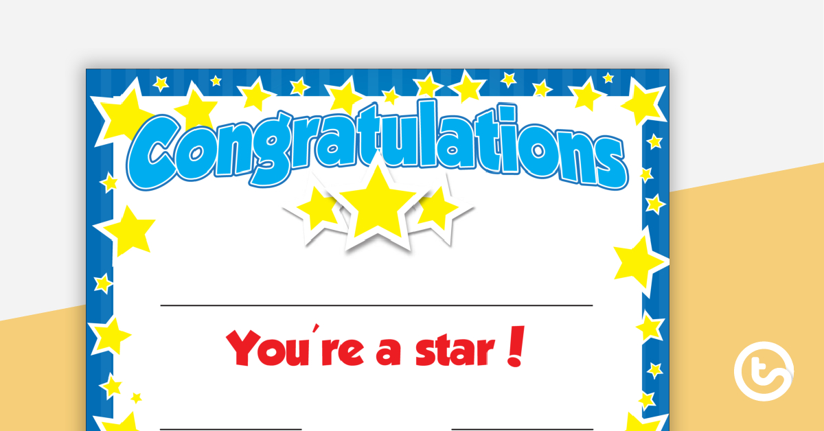 You'Re A Star Certificate - Editable intended for Star Student Certificate Templates