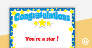 You'Re A Star Certificate – Editable regarding Star Student Certificate Template