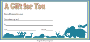 Zoo Gift Voucher Template Free Printable (2Nd Design with regard to Zoo Gift Certificate Templates Free Download