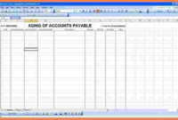 10+ Accounts Payable Spreadsheet Template   Excel regarding Business Accounts Excel Template