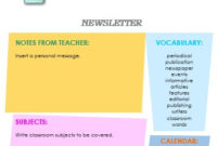 10+ Classroom Newsletter Templates – Free And Printable with New Free Business Newsletter Templates For Microsoft Word