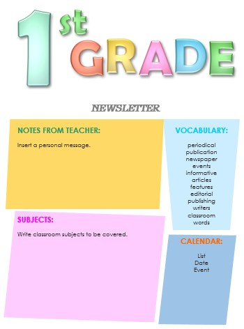 10+ Classroom Newsletter Templates - Free And Printable with New Free Business Newsletter Templates For Microsoft Word