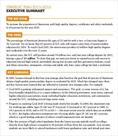 10+ Executive Summary Templates Word Excel Powerpoint regarding Business Process Document Template
