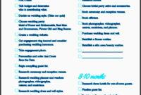 10 Planning A Wedding Checklist Example – Sampletemplatess throughout Fresh Wedding Venue Business Plan Template