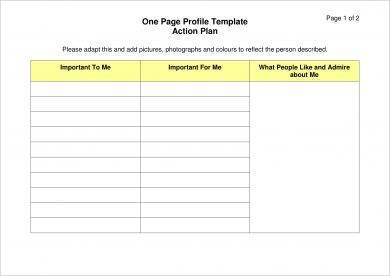 11+ One-Page Action Plan Examples - Word, Pdf | Examples intended for Quality New Business Project Plan Template