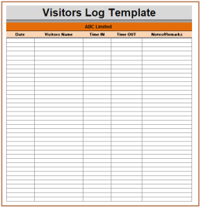 11+ Visitor Log Templates | Templates, Visitors Book, Words in Business Directory Template Free