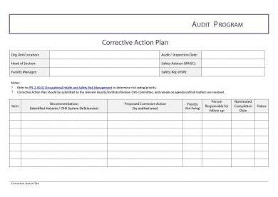 12+ Employee Corrective Action Plan Examples - Pdf, Word throughout Quality Internal Business Proposal Template