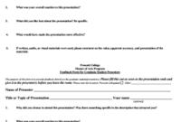 13 Printable Student Presentation Evaluation Form intended for Presentation Evaluation Form Templates
