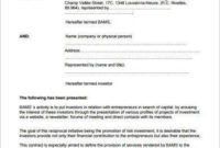 13+ Small Business Investment Agreement Examples In Pdf within Business Plan Template Law Firm