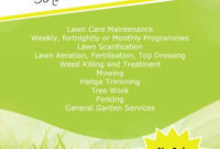 15 Lawn Care Flyers [Free Examples + Advertising Ideas regarding Small Business Website Templates Free