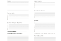 15 Printable Best Business Plan Template Forms – Fillable in Unique One Page Business Website Template