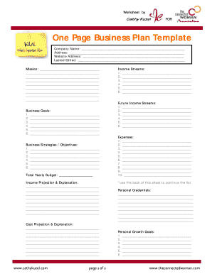 15 Printable Best Business Plan Template Forms - Fillable in Unique One Page Business Website Template