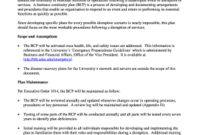 15 Printable Business Continuity Plan Example Pdf Forms in Business Continuity Management Policy Template
