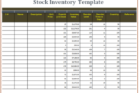 15+ Stock Inventory Templates | Word, Excel & Pdf intended for Free Excel Spreadsheet Templates For Small Business