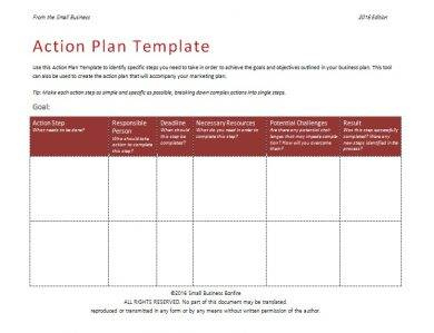 17+ Business Action Plan Examples In Pdf | Ms Word | Pages intended for One Page Business Plan Template Word