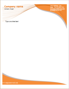 19 Editable Letterhead Templates For Ms Word   Free throughout Free Online Business Letterhead Templates