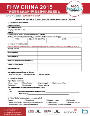 19 Printable Company Profile Template Design Forms regarding Business Profile Template Free Download