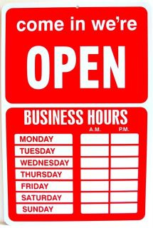 20 Business Hours Open Sign On Popscreen throughout Printable Business Hours Sign Template