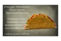 219+ Mexican Food Business Cards And Mexican Food Business with regard to Restaurant Business Cards Templates Free