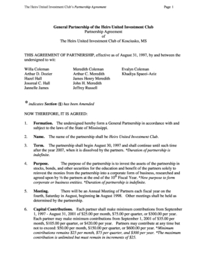 22 Printable General Partnership Agreement Forms And intended for Unique Business Partnership Agreement Template Pdf