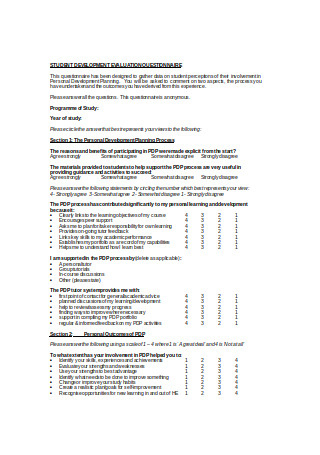 24+ Sample Business Development Questionnaire Templates In intended for Business Plan Questionnaire Template