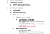 26 Printable Board Meeting Agenda Template Word Forms inside Sample Agenda Template For Board Meeting