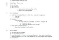 26 Printable Board Meeting Agenda Template Word Forms regarding School Board Meeting Agenda Template