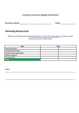26+ Sample Business Budgets In Pdf | Ms Word | Excel with regard to Annual Business Budget Template Excel