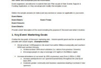 26+ Sample Event Marketing Plans In Pdf | Ms Word with regard to Wedding Venue Business Plan Template