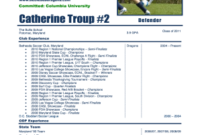 27 Printable Football Cv Download Forms And Templates with regard to Simple Business Profile Template