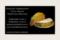 27+ Taco Business Cards And Taco Business Card Templates for Fresh Restaurant Business Cards Templates Free