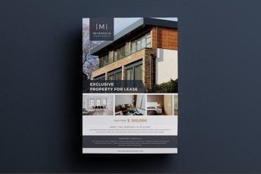 30+ Best Real Estate Flyer Templates | Design Shack for Listing Presentation Template
