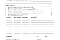 33 Printable Asset Register Form Templates – Fillable with regard to Business Asset List Template