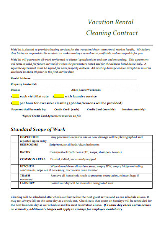 33+ Sample Cleaning Contract Templates In Pdf   Ms Word with regard to Quality Cleaning Business Contract Template