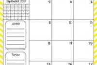 40+ Calendars Ideas | Calendar Printables, Calendar throughout Middle School Agenda Template
