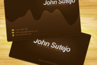 41 Best Business Card Tutorials | Creative Business Card In Double Sided Business Card Template Illustrator