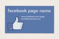429+ Facebook Business Cards And Facebook Business Card regarding Facebook Templates For Business