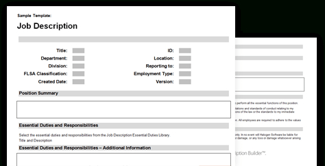 5 Free Job Description Templates - Excel Pdf Formats intended for Business Requirements Definition Template