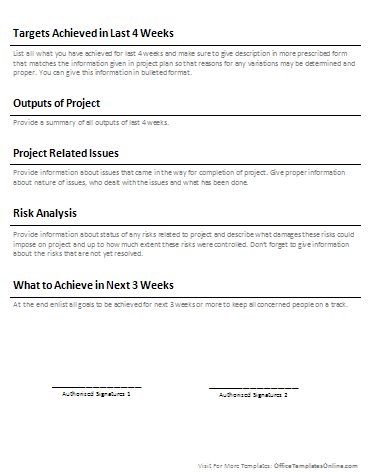 5 Professional Report Templates | Office Templates Online regarding One Page Business Summary Template