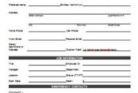 50+ Employee Information Sheets [Pdf+Word] – 2020 » Excelshe throughout Unique Personal Business Profile Template