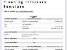 50 Free Printable Travel Itinerary Template For Word For with Business Travel Itinerary Template Word