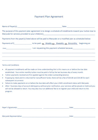50+ Sample Agreement For Payment Plan Templates In Pdf within Standard Business Proposal Template