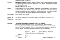 501C3 Board Meeting Minutes - Fill Out, Print & Download intended for Community Meeting Agenda Template