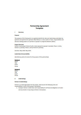 51+ Sample Partnership Agreements In Pdf | Ms Word | Excel in Quality Template For Business Partnership Agreement