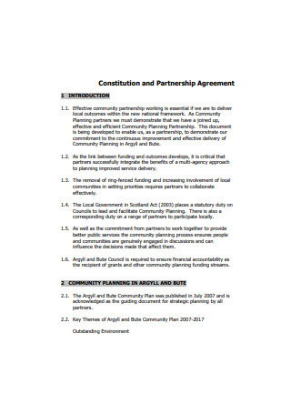 51+ Sample Partnership Agreements In Pdf | Ms Word | Excel intended for Contract For Business Partnership Template