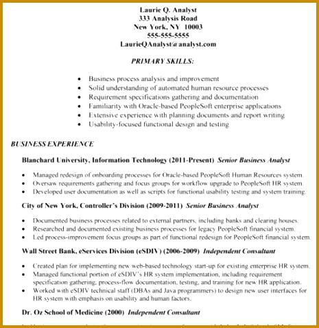 6 Business Analyst Cv Pdf | Fabtemplatez with Best Business Analyst Documents Templates