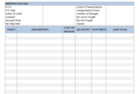 6-Column Invoice Templates with Business Invoice Template Uk