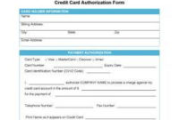 6+ Hotel Credit Card Authorization Form | Authorization with Plain Business Card Template Word